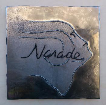 N.A.I.A.D.E. | metaal op hout | 60*60 | 2013
