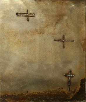 Compositie met kruizen 3 | metaal | 38*31 | 2013