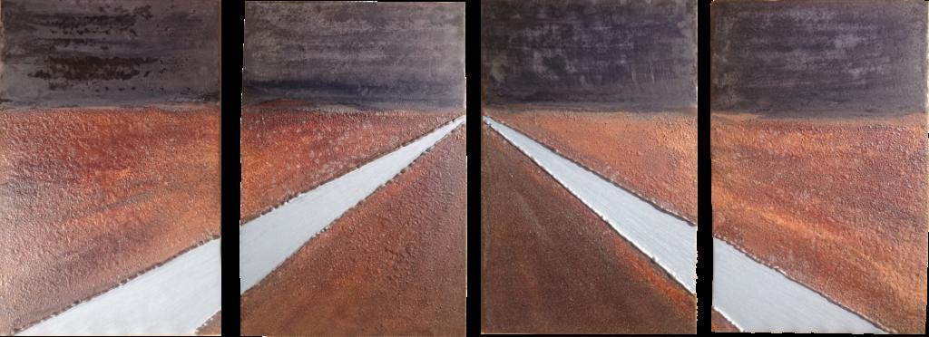 Twee sloten met akkers | metaal | 39*106 | 2015